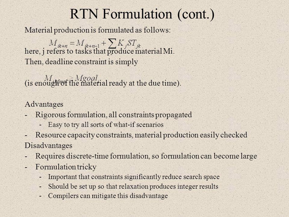 RTN Formulation (cont.)