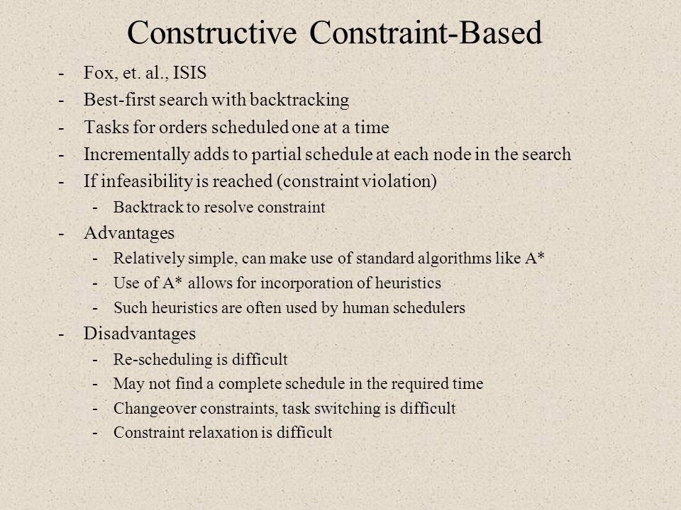 Constructive Constraint-Based