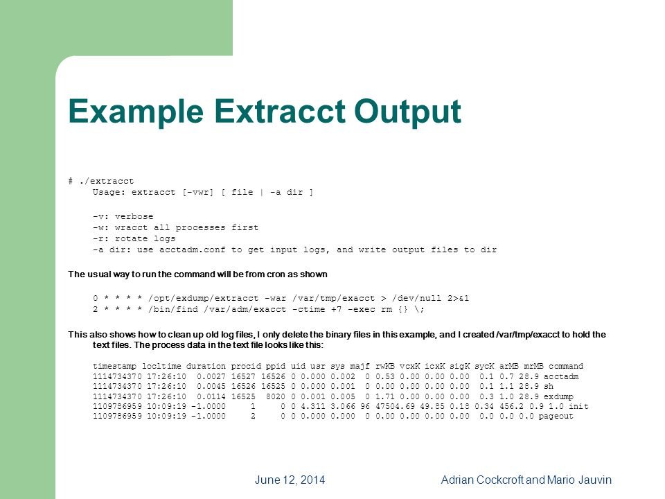Example Extracct Output