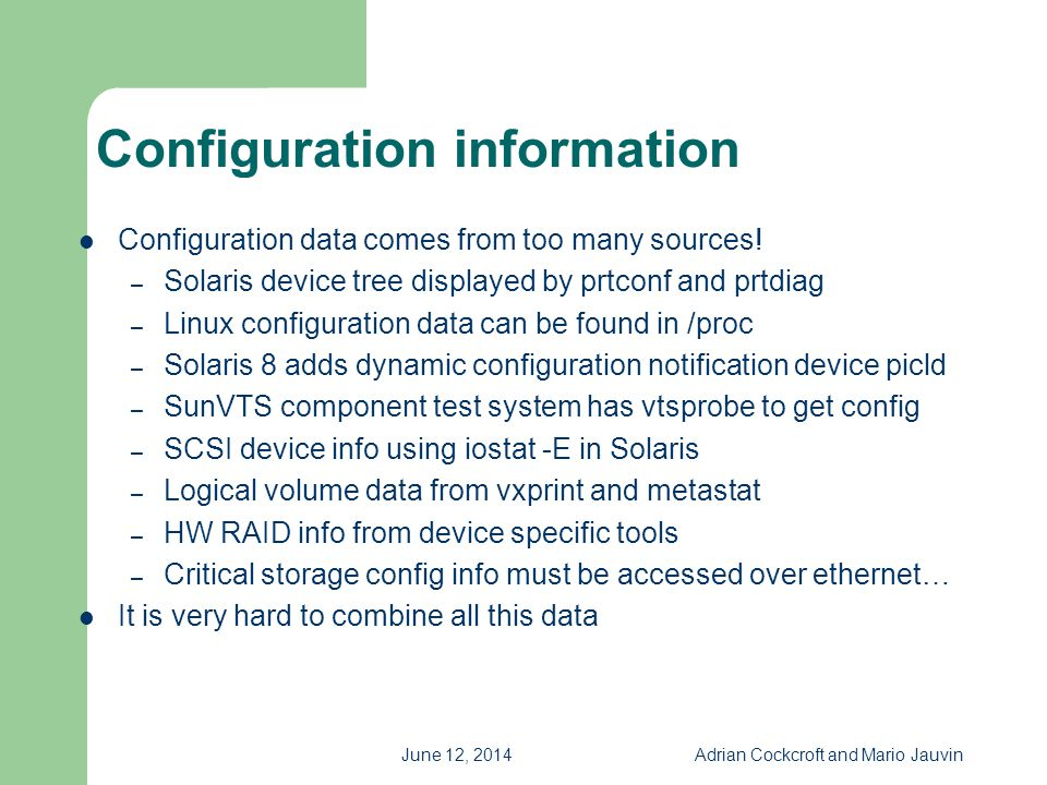 Configuration information
