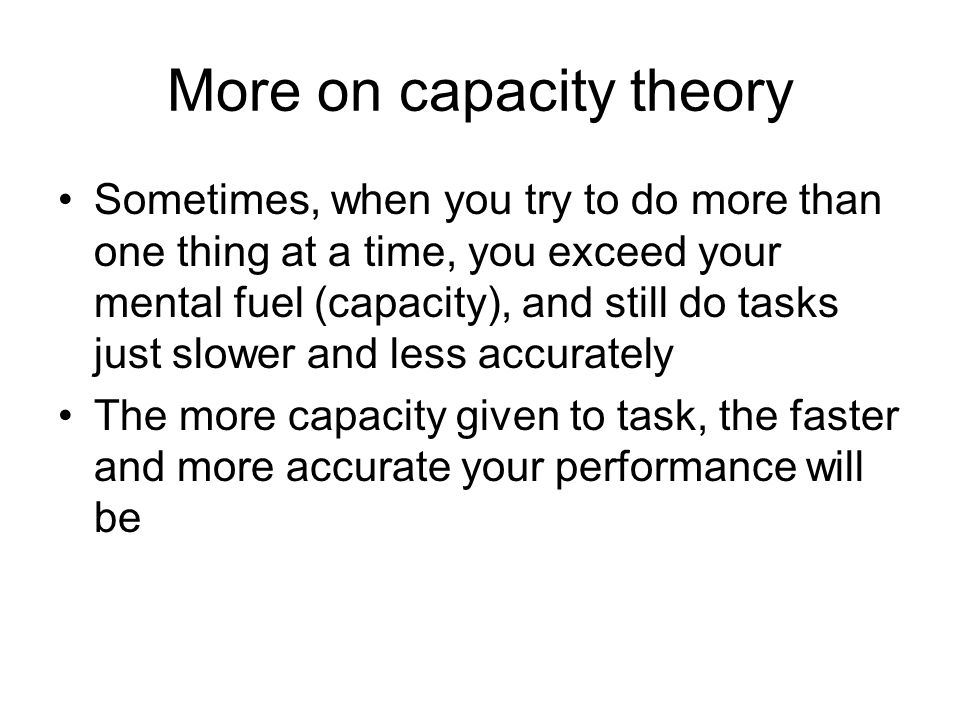 More on capacity theory