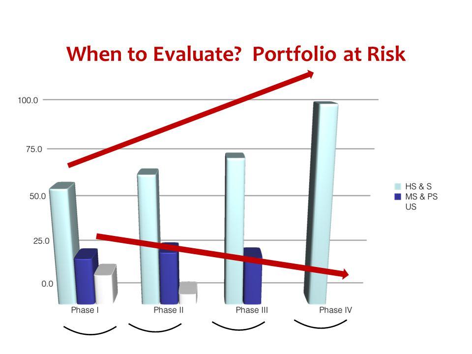 When to Evaluate Portfolio at Risk