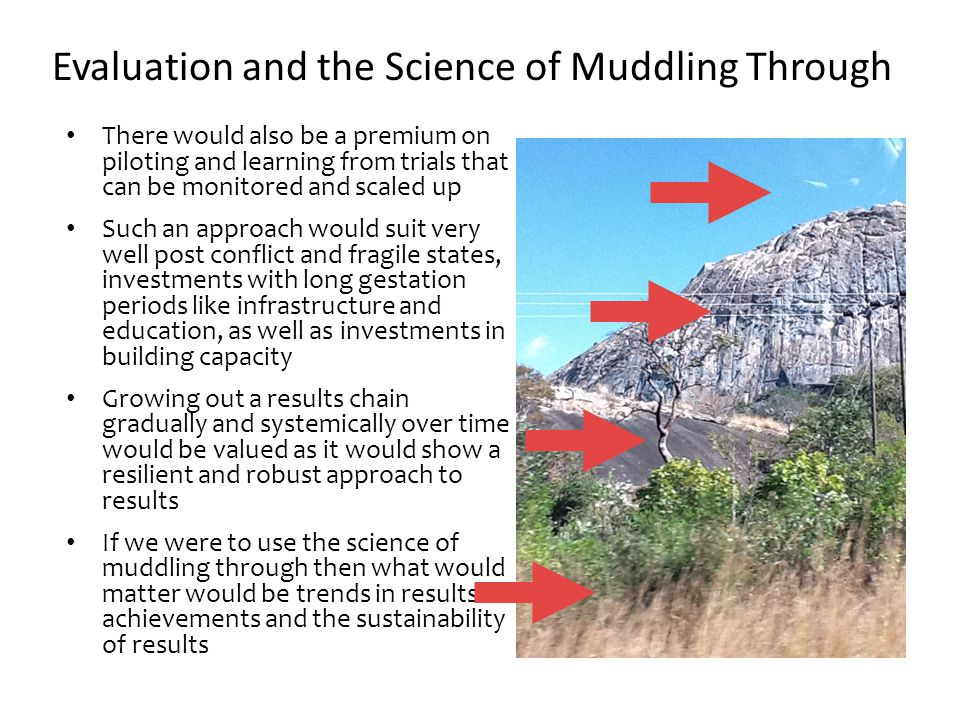 Evaluation and the Science of Muddling Through