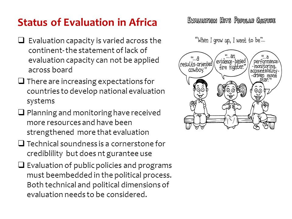 Status of Evaluation in Africa
