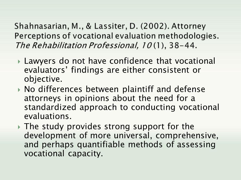 Shahnasarian, M. , & Lassiter, D. (2002)