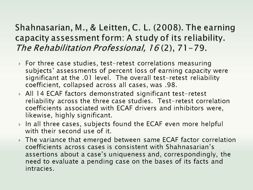 Shahnasarian, M. , & Leitten, C. L. (2008)
