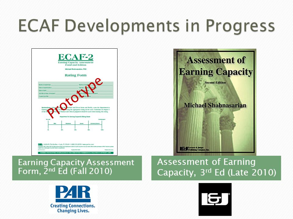 ECAF Developments in Progress