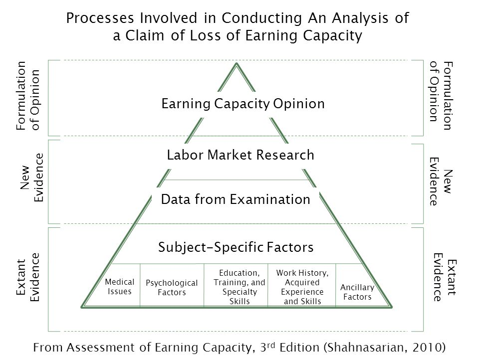 Processes Involved in Conducting An Analysis of a Claim of Loss of Earning Capacity