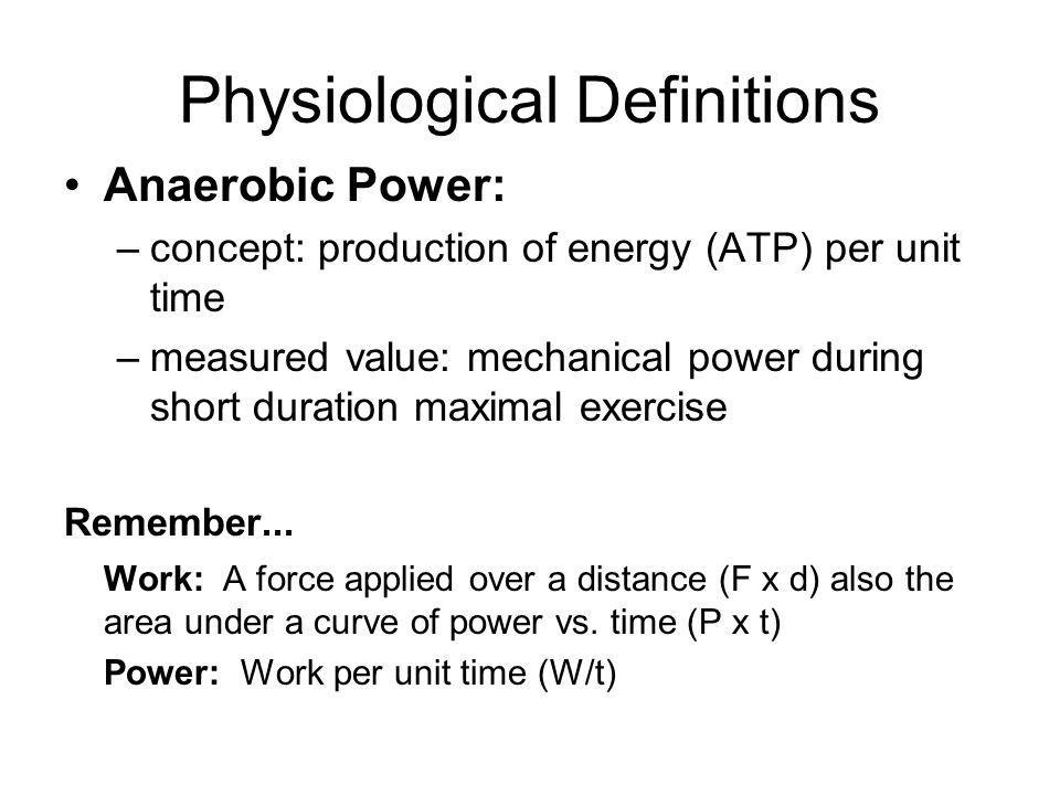 Physiological Definitions