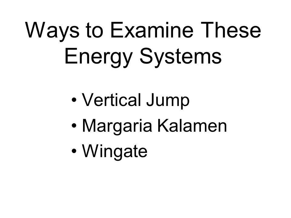Ways to Examine These Energy Systems