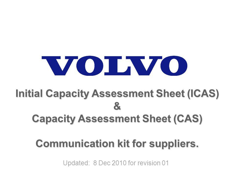 Initial Capacity Assessment Sheet (ICAS) &