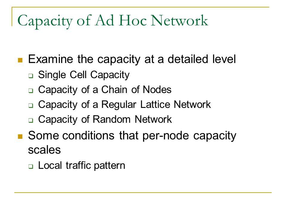 Capacity of Ad Hoc Network