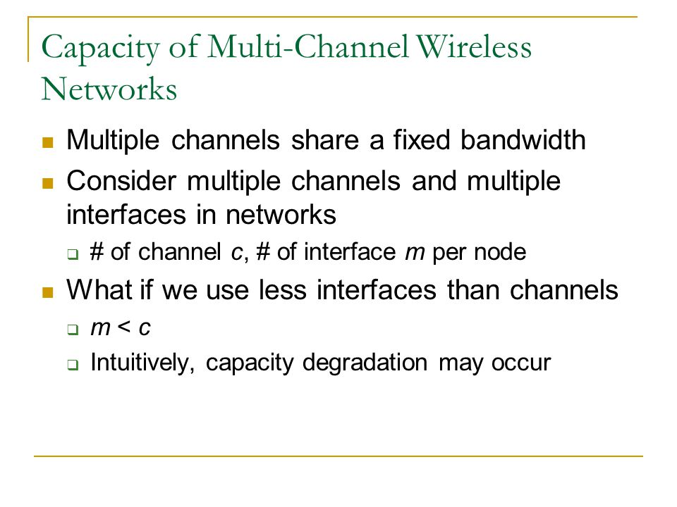 Capacity of Multi-Channel Wireless Networks