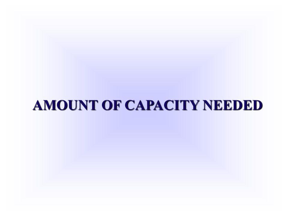 AMOUNT OF CAPACITY NEEDED