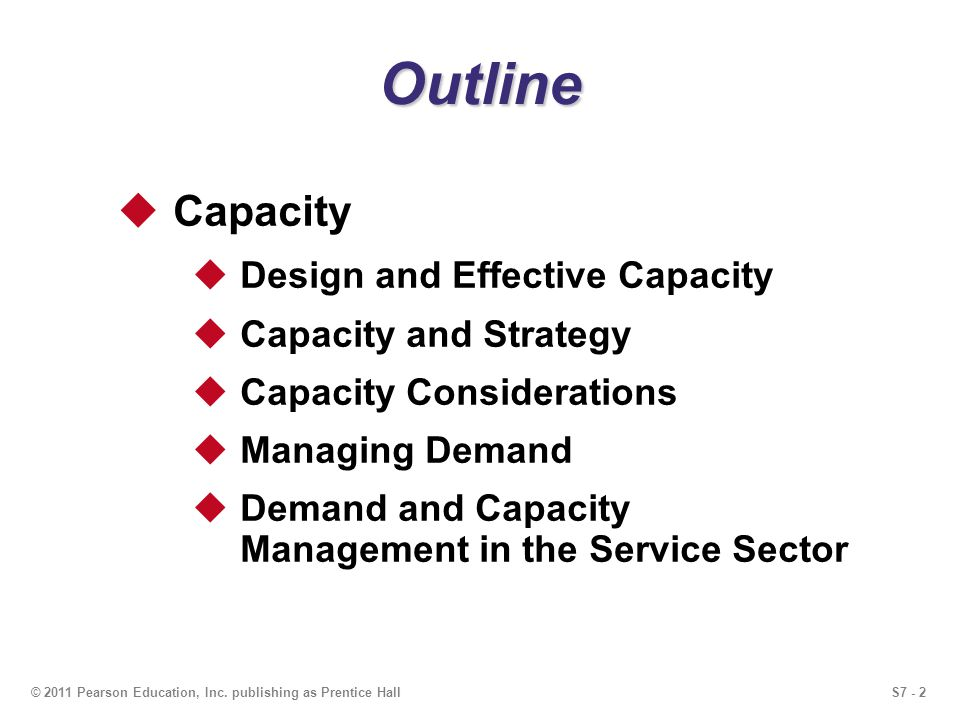 Outline Capacity Design and Effective Capacity Capacity and Strategy