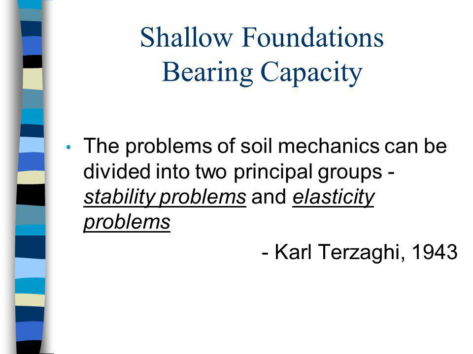 Shallow Foundations Bearing Capacity
