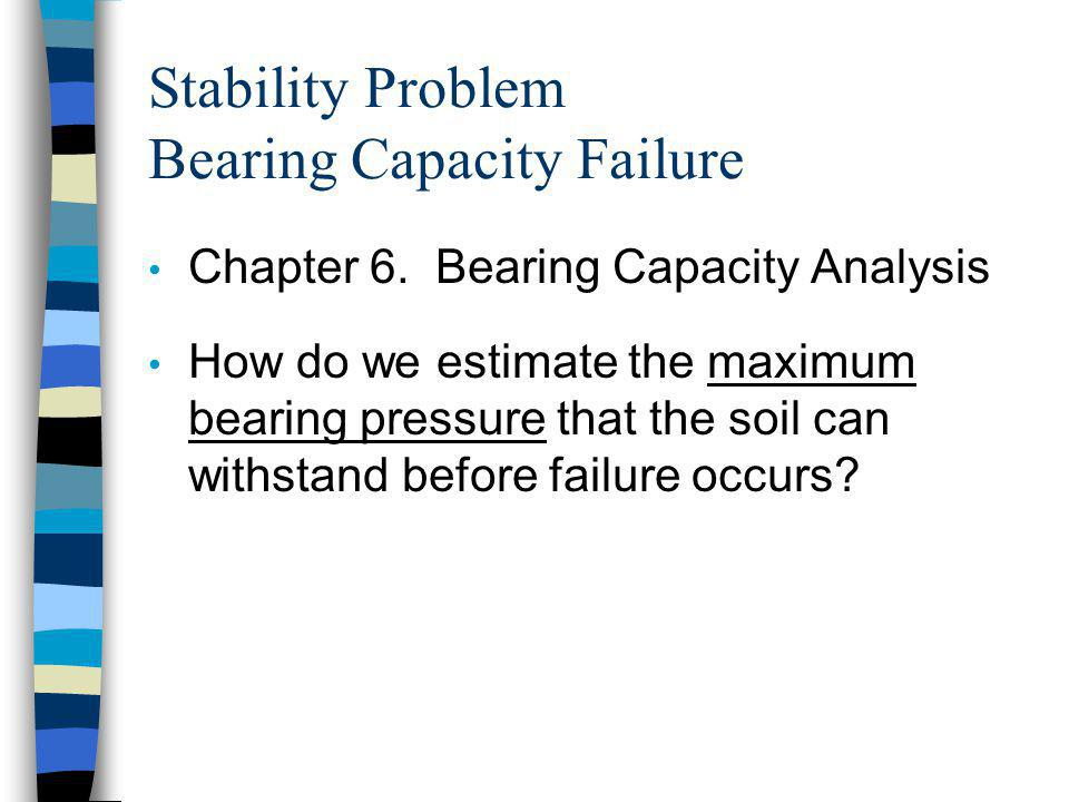 Stability Problem Bearing Capacity Failure