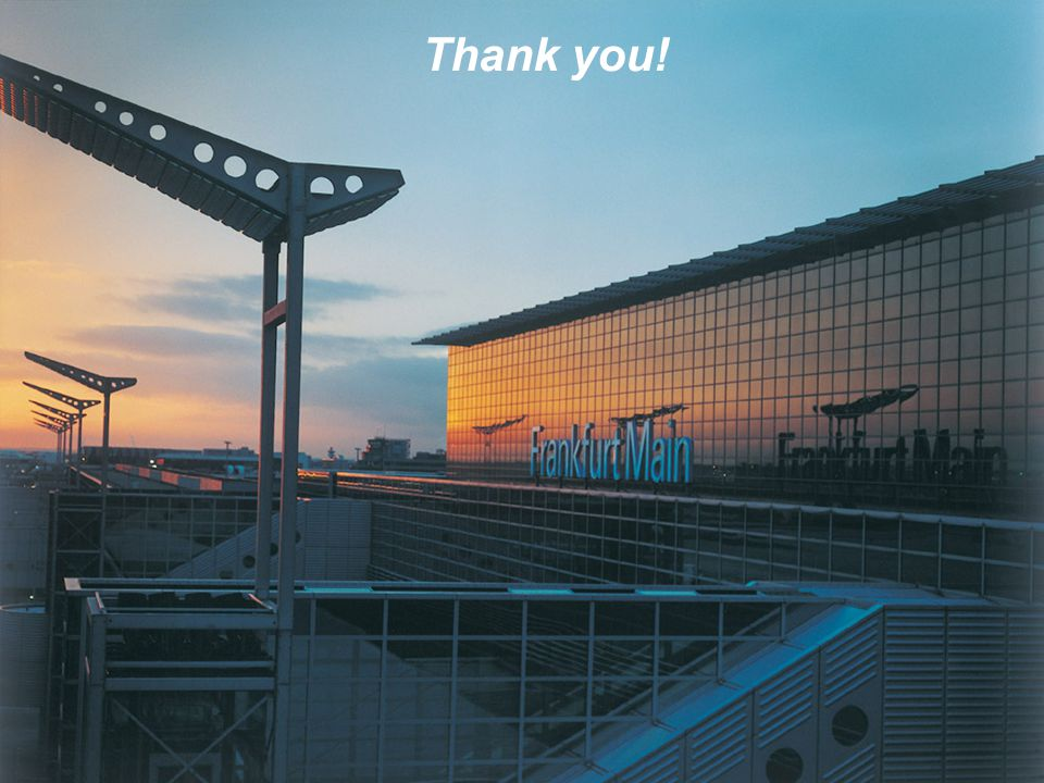 Thank you! Airside Capacity Enhancement, 2007-02-19