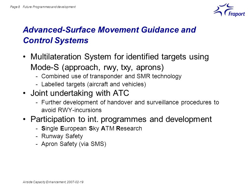 Advanced-Surface Movement Guidance and Control Systems