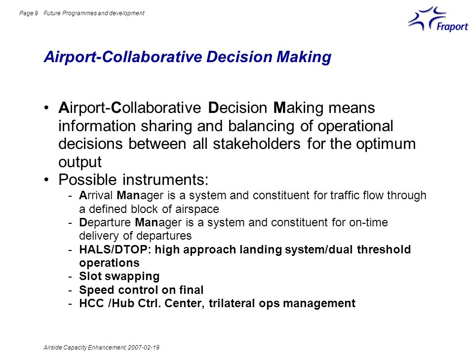 Airport-Collaborative Decision Making