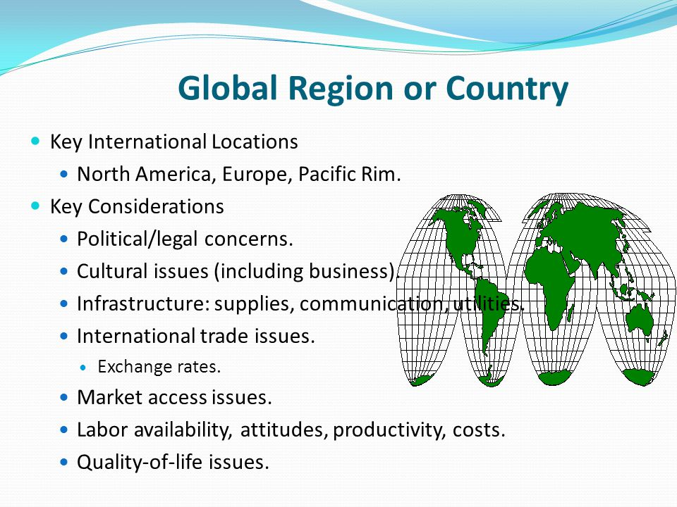 Global Region or Country