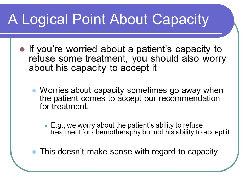 A Logical Point About Capacity