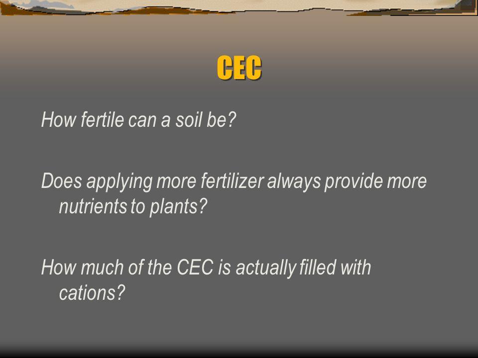 CEC How fertile can a soil be