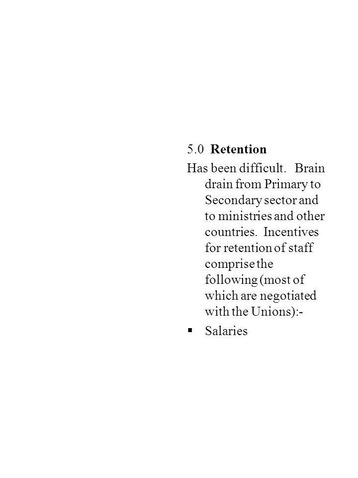 5.0 Retention