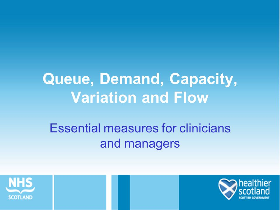 Queue, Demand, Capacity, Variation and Flow