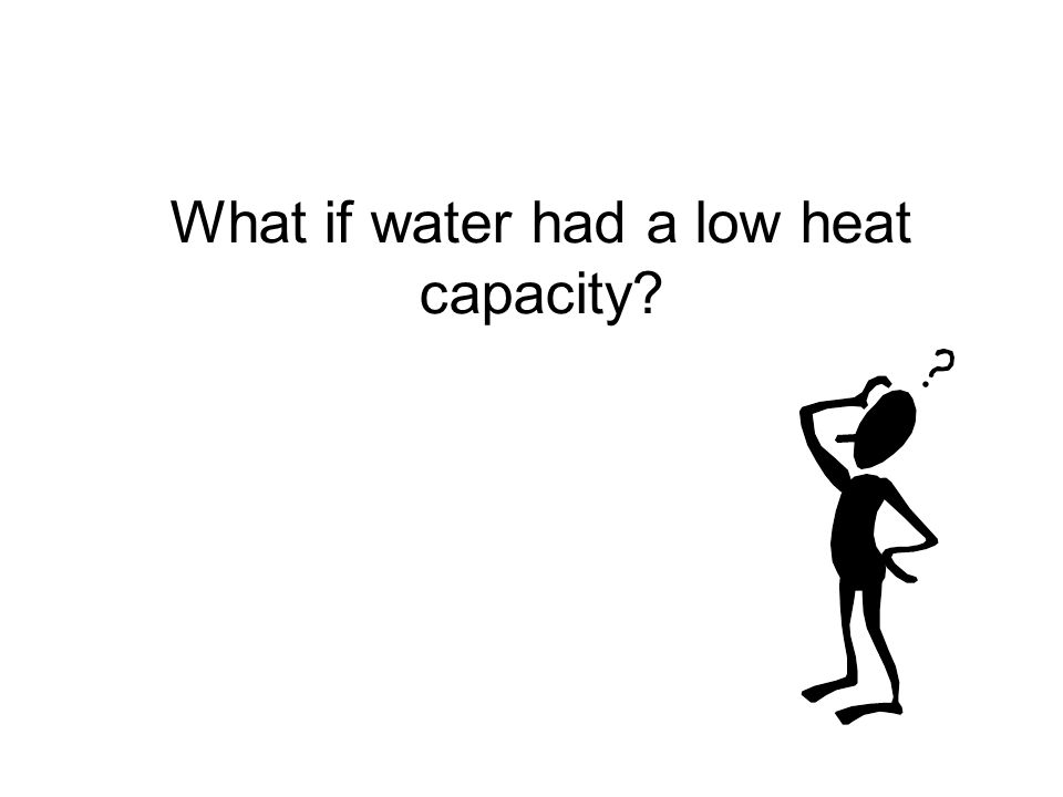 What if water had a low heat capacity