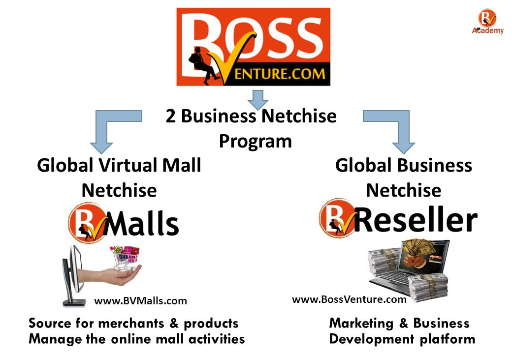 Program Global Virtual Mall Netchise Global Business Netchise