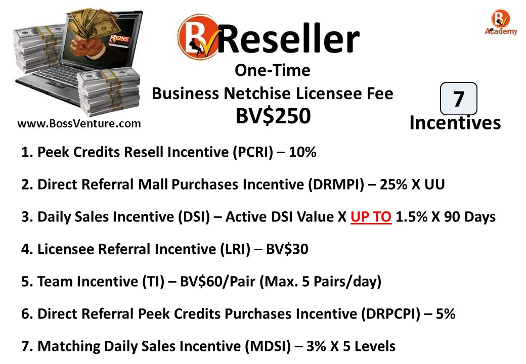 Business Netchise Licensee Fee