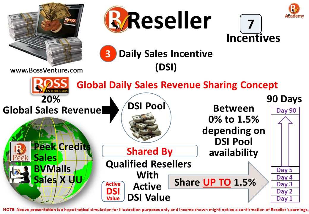 7 Incentives 3 Daily Sales Incentive (DSI)