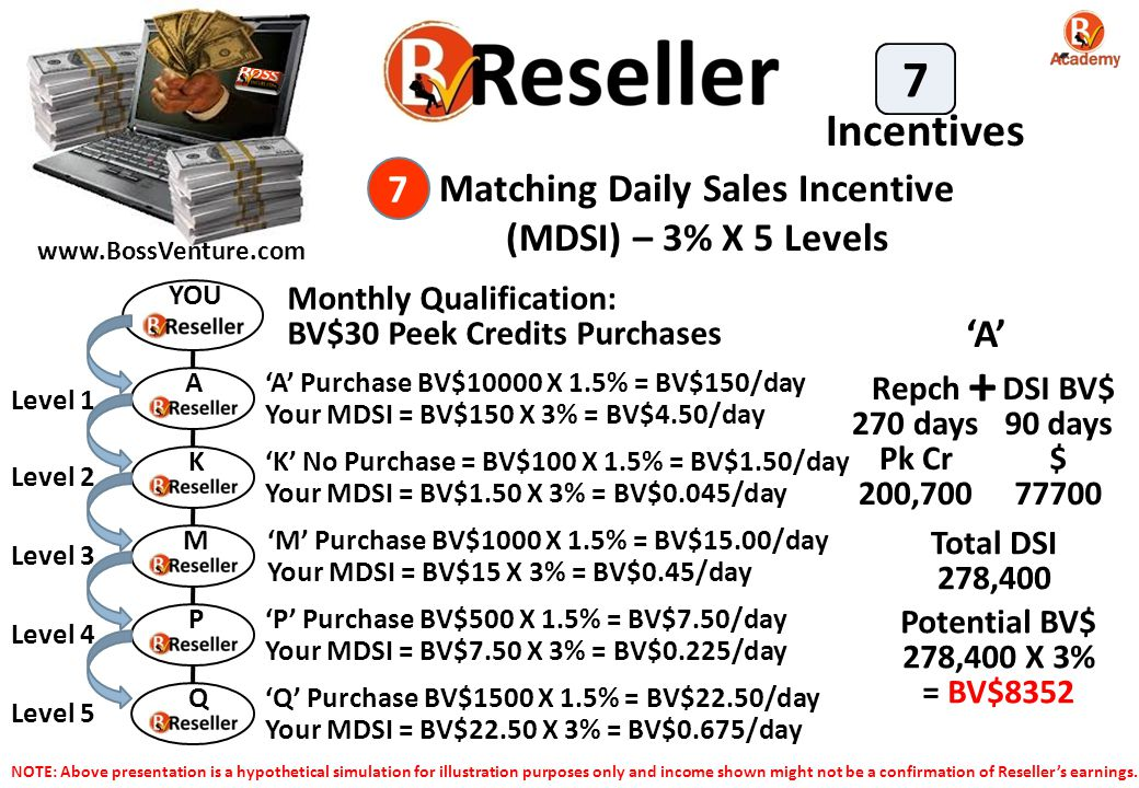 Matching Daily Sales Incentive