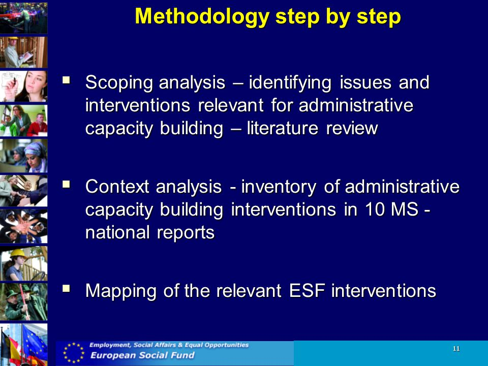 Methodology step by step