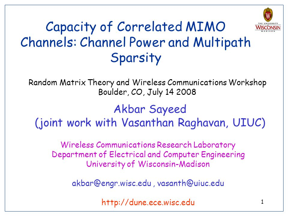 Capacity of Correlated MIMO Channels: Channel Power and Multipath Sparsity