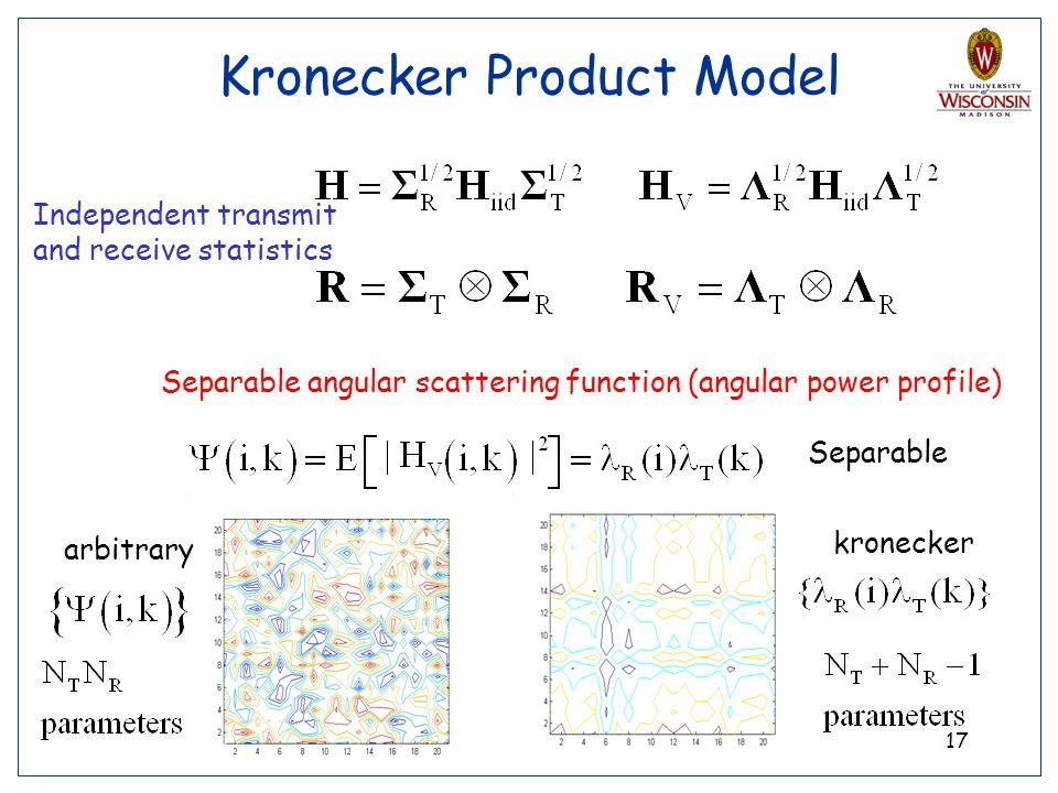 Kronecker Product Model
