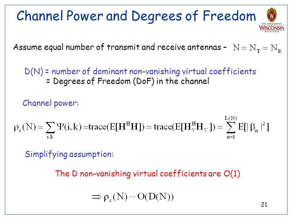 Channel Power and Degrees of Freedom