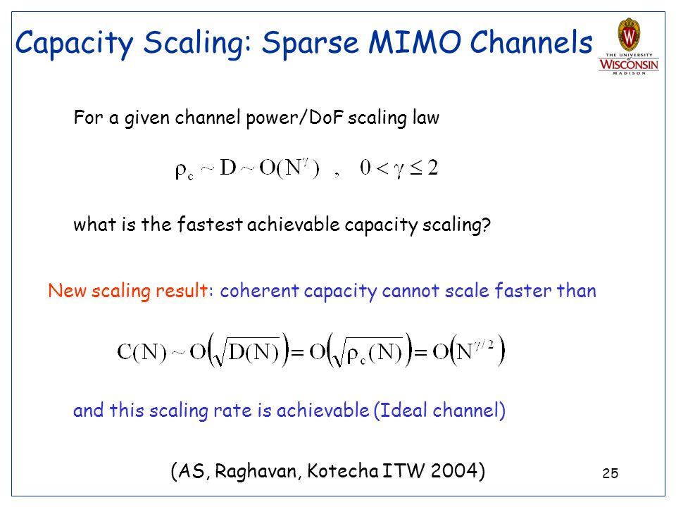 Capacity Scaling: Sparse MIMO Channels