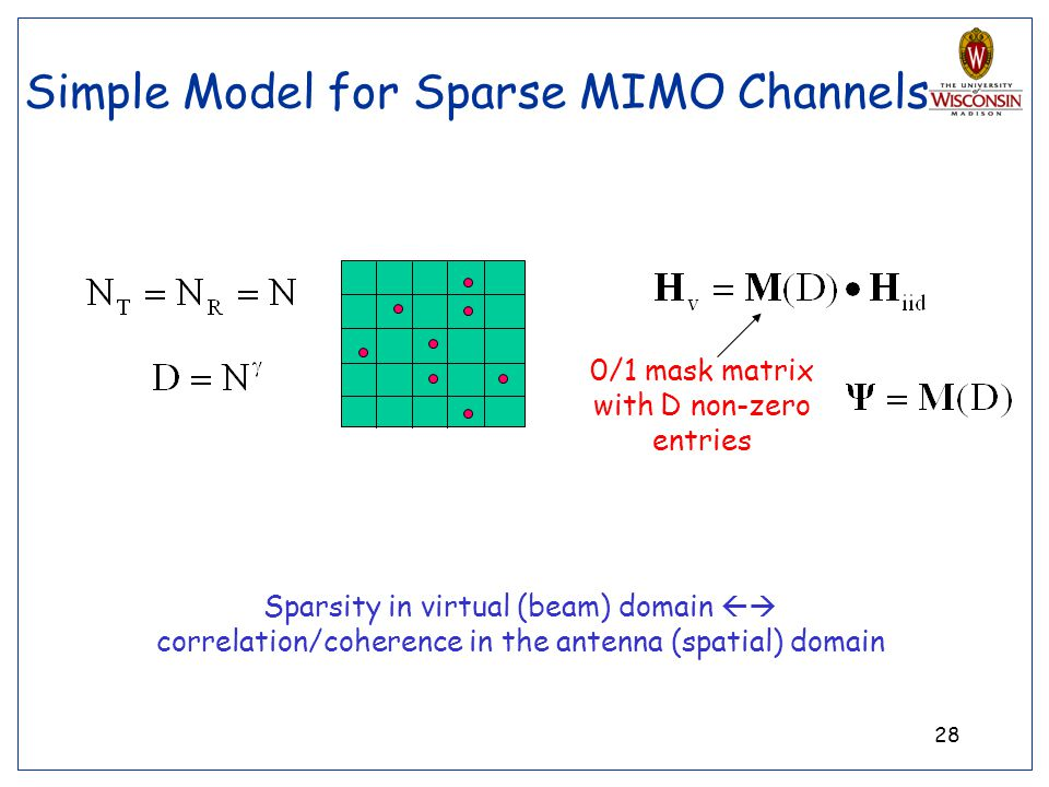 Simple Model for Sparse MIMO Channels