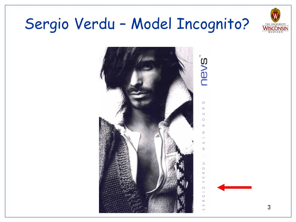 Sergio Verdu – Model Incognito