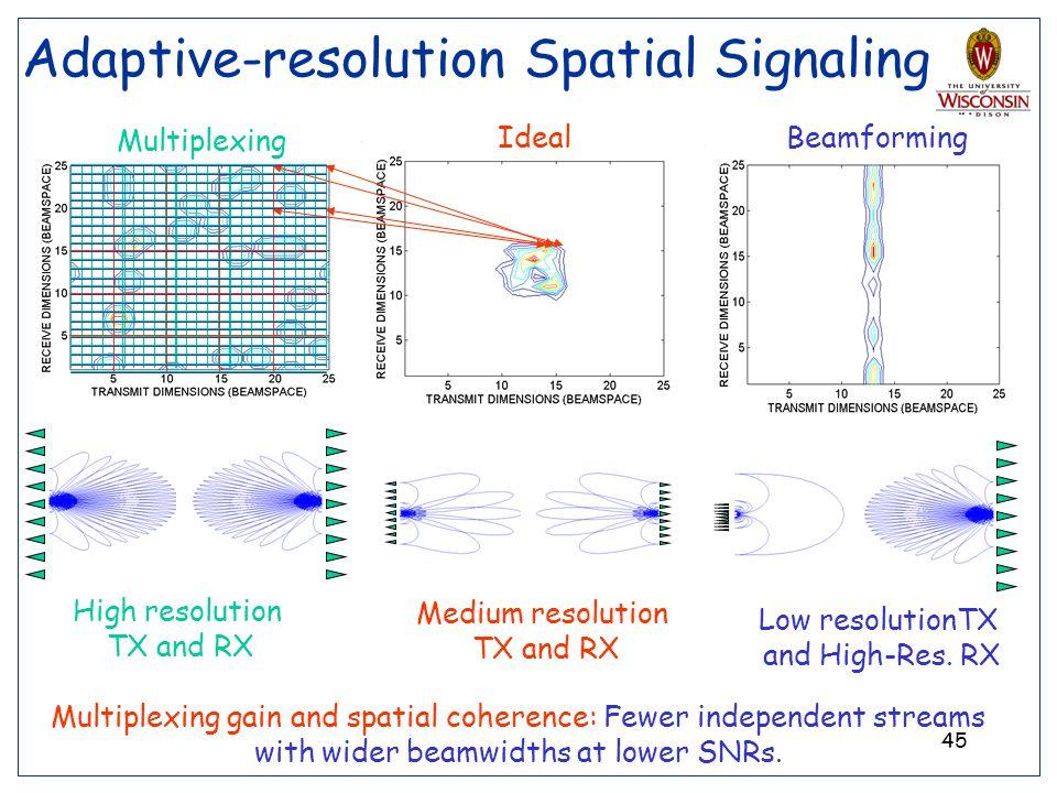 Adaptive-resolution Spatial Signaling