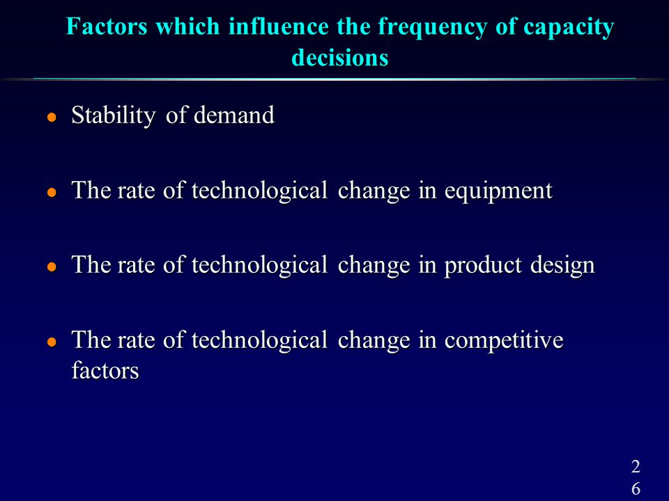A Strategy For Demand Management: Capacity Cushion