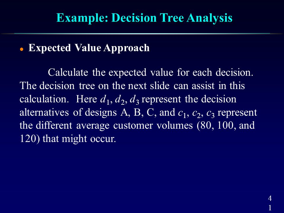 Example: Decision Tree Analysis