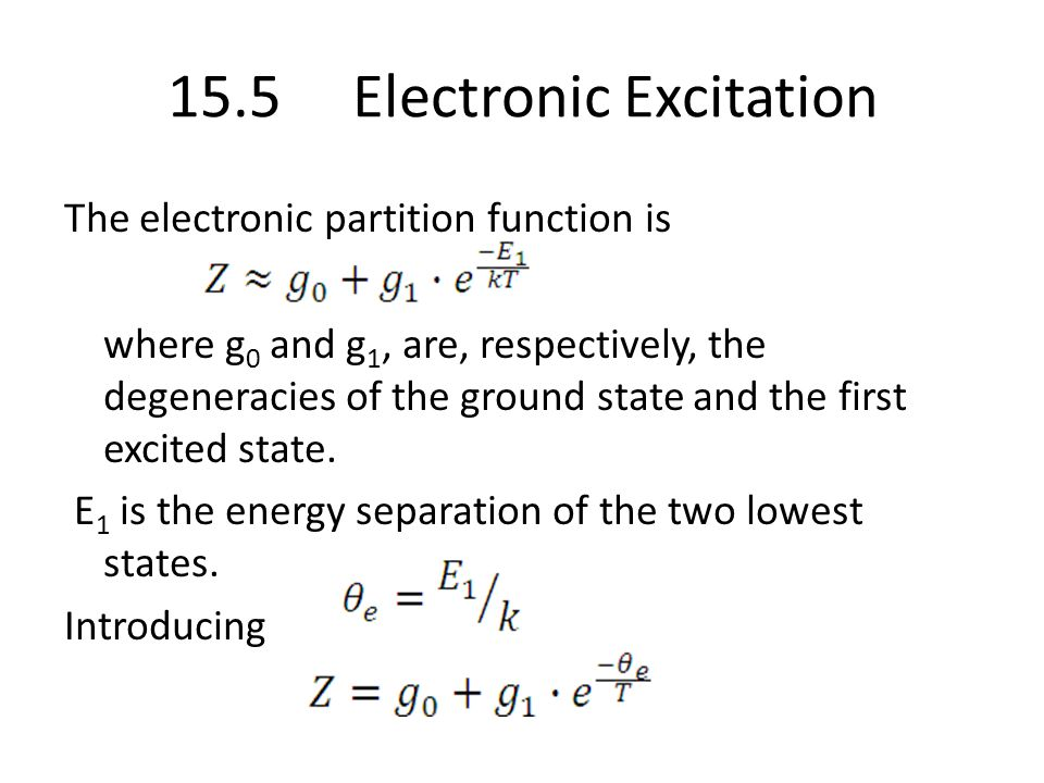 15.5 Electronic Excitation