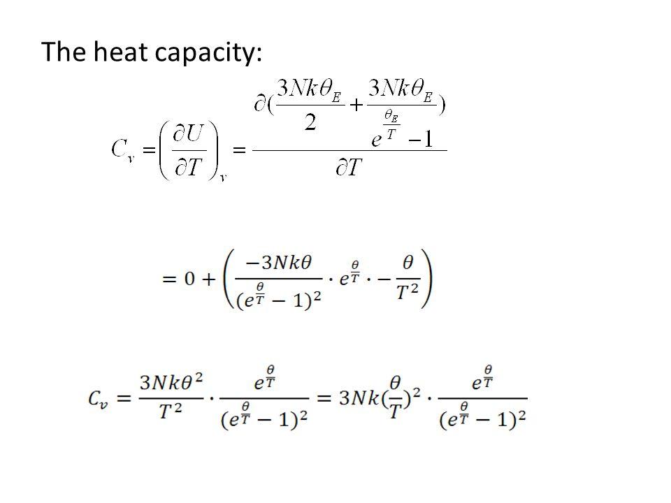 The heat capacity: