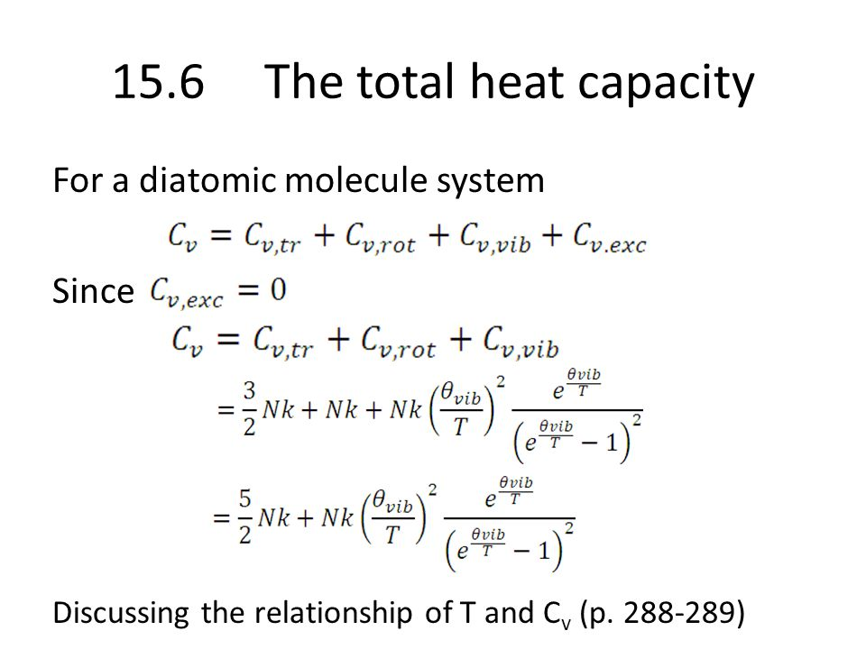 15.6 The total heat capacity