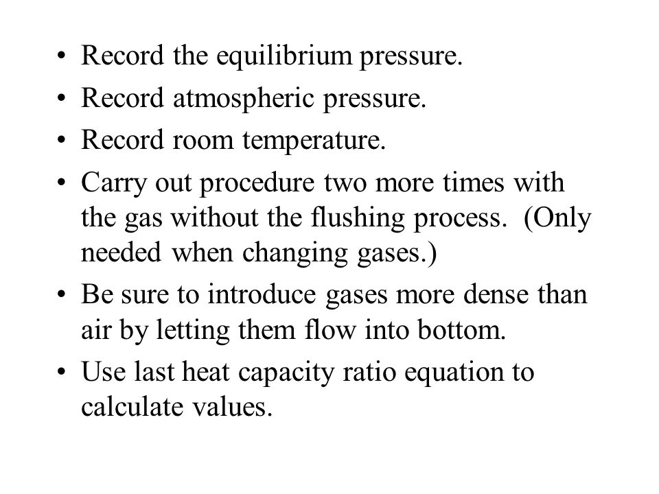 Record the equilibrium pressure.
