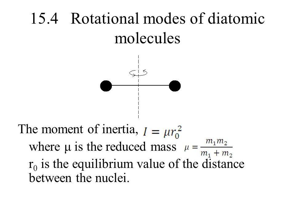 15.4 Rotational modes of diatomic molecules