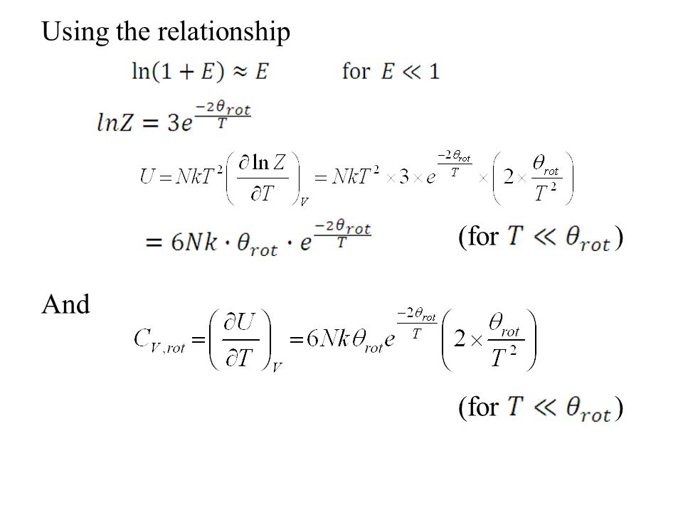 Using the relationship (for ) And
